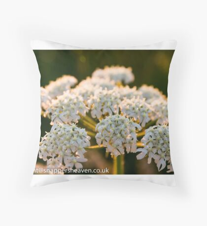 Cowslip in the Meadowflower collection Throw Pillow
