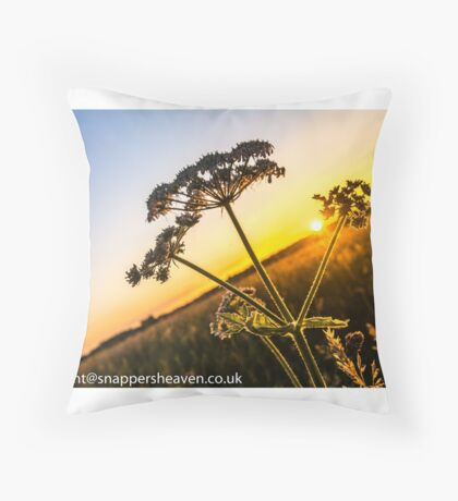Cowslip at sunset from Meadowflower Collection  Throw Pillow