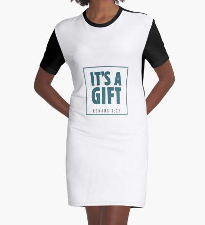 It's a gift - Romans 6:23 Graphic T-Shirt Dress