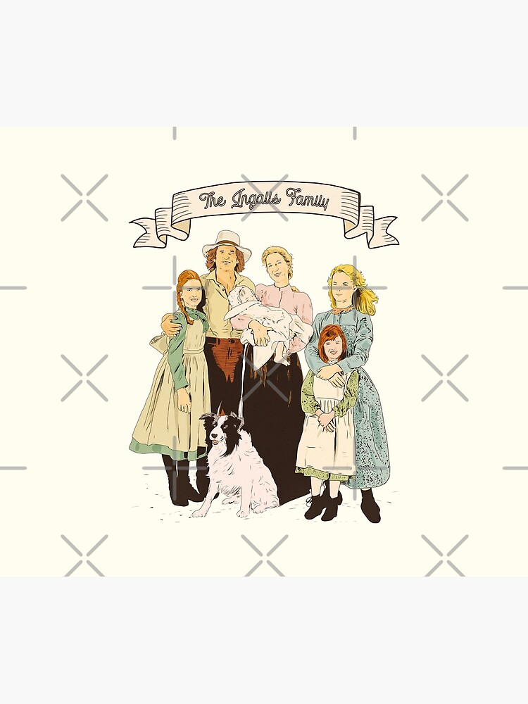colored The Ingalls family in the Little house on the prairie by MimieTrouvetou