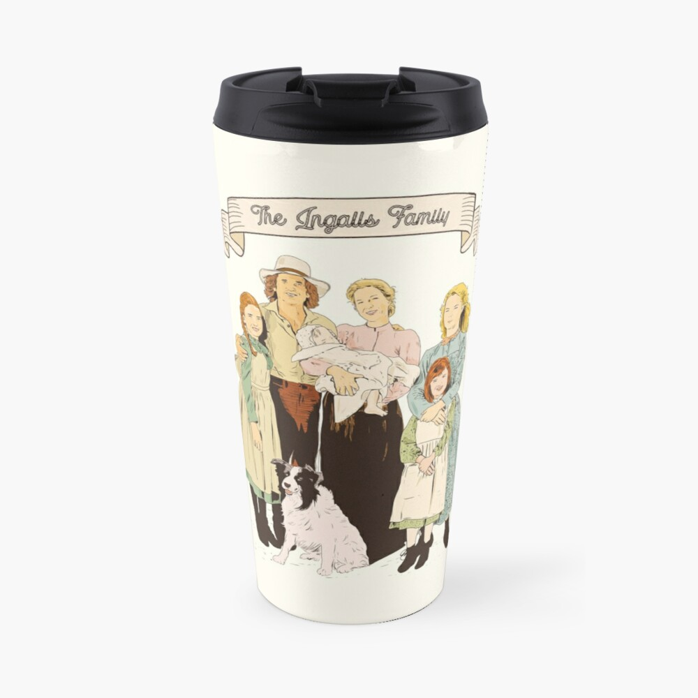 colored The Ingalls family in the Little house on the prairie Travel Mug