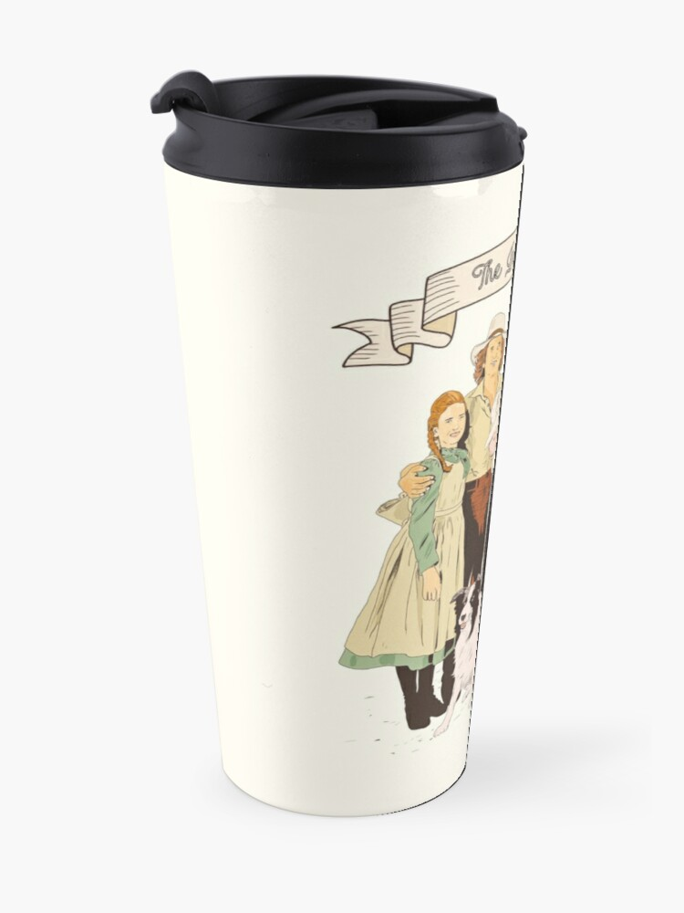 Alternate view of colored The Ingalls family in the Little house on the prairie Travel Mug