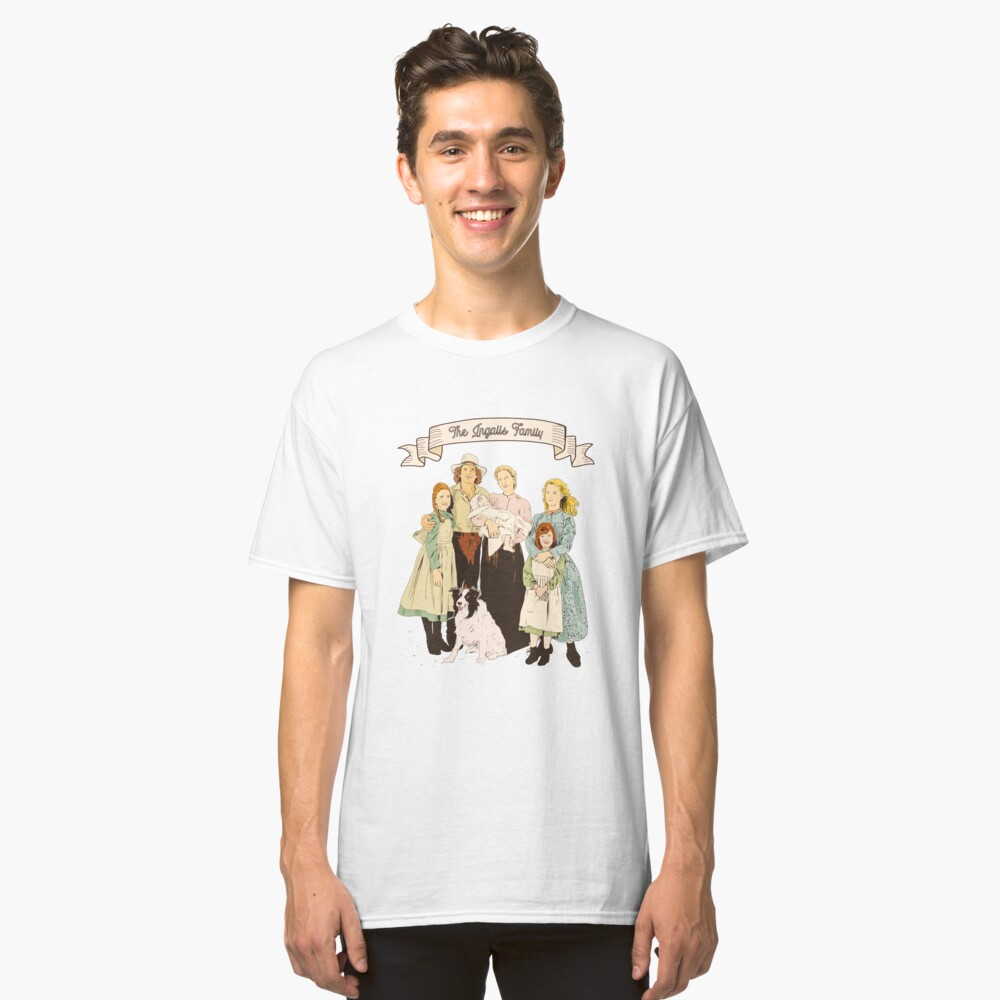 colored The Ingalls family in the Little house on the prairie Classic T-Shirt