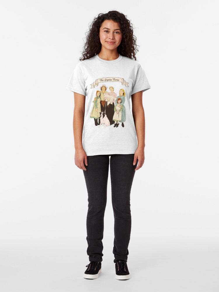 Alternate view of colored The Ingalls family in the Little house on the prairie Classic T-Shirt