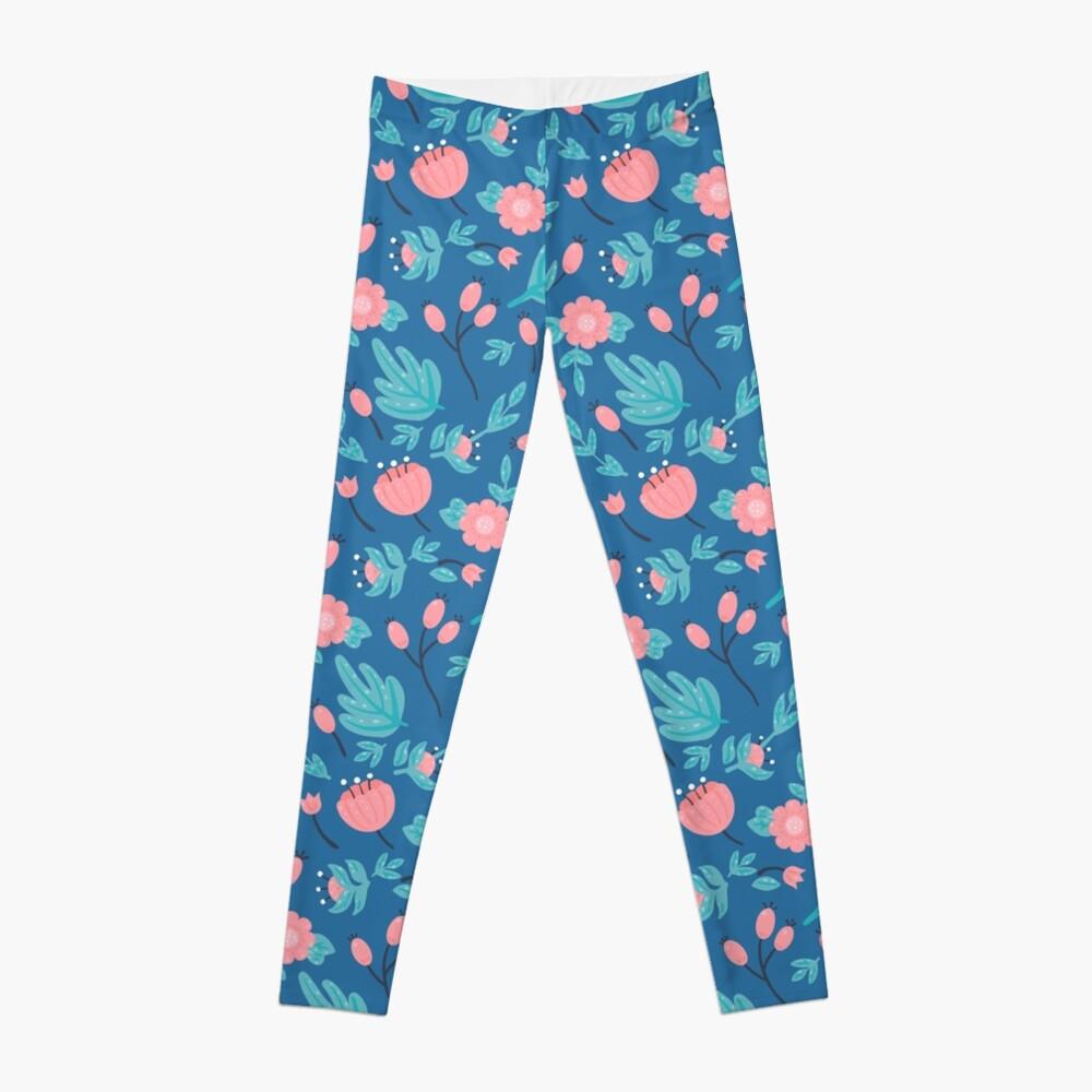 Blue florals Leggings