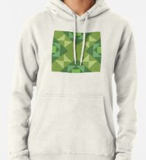 Pop Squares GREEN Pullover Hoodie