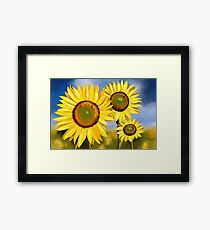 Painting of Sunflowers Framed Print