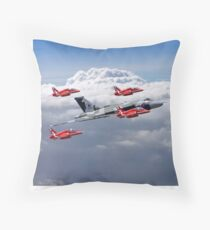 Final Vulcan Flight With The Red Arrows  - 3 Throw Pillow