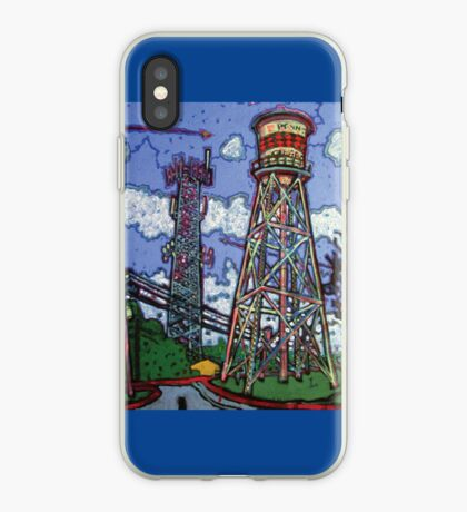 Penn Field Water Tower, Austin, Texas iPhone Case