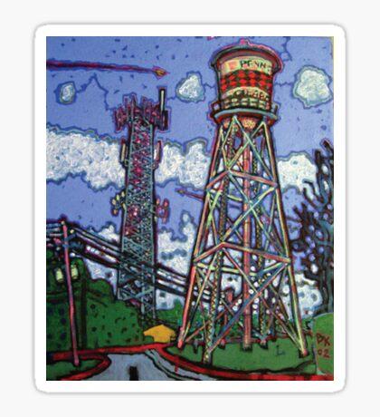 Penn Field Water Tower, Austin, Texas Sticker
