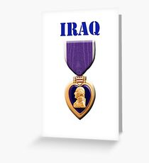 Purple Heart - Iraq Greeting Card