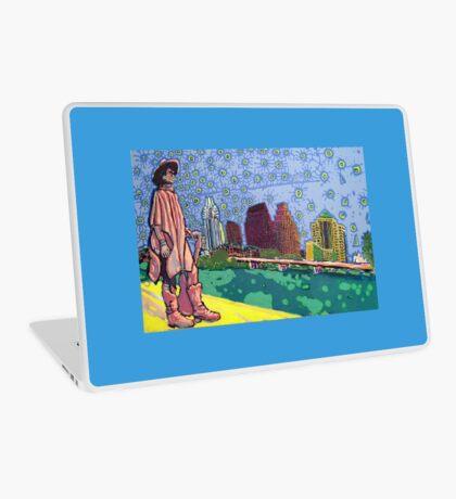 Stevie Ray Vaughan Statue, Austin, Texas Painting Laptop Skin