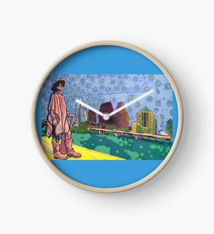 Stevie Ray Vaughan Statue, Austin, Texas Painting Clock