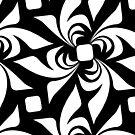 Geometric Flowers by BigFatArts