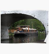 Houseboat on the Grand Union canal Poster