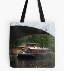 Houseboat on the Grand Union canal Tote Bag