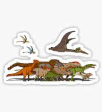 Mesozoic Procession Sticker