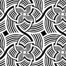 Geometric Flower Swirls by BigFatArts