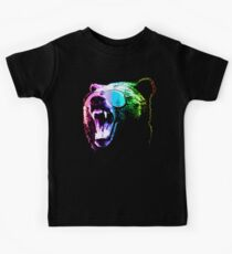 Rainbow Party Grizzly Bear Kids T-Shirt