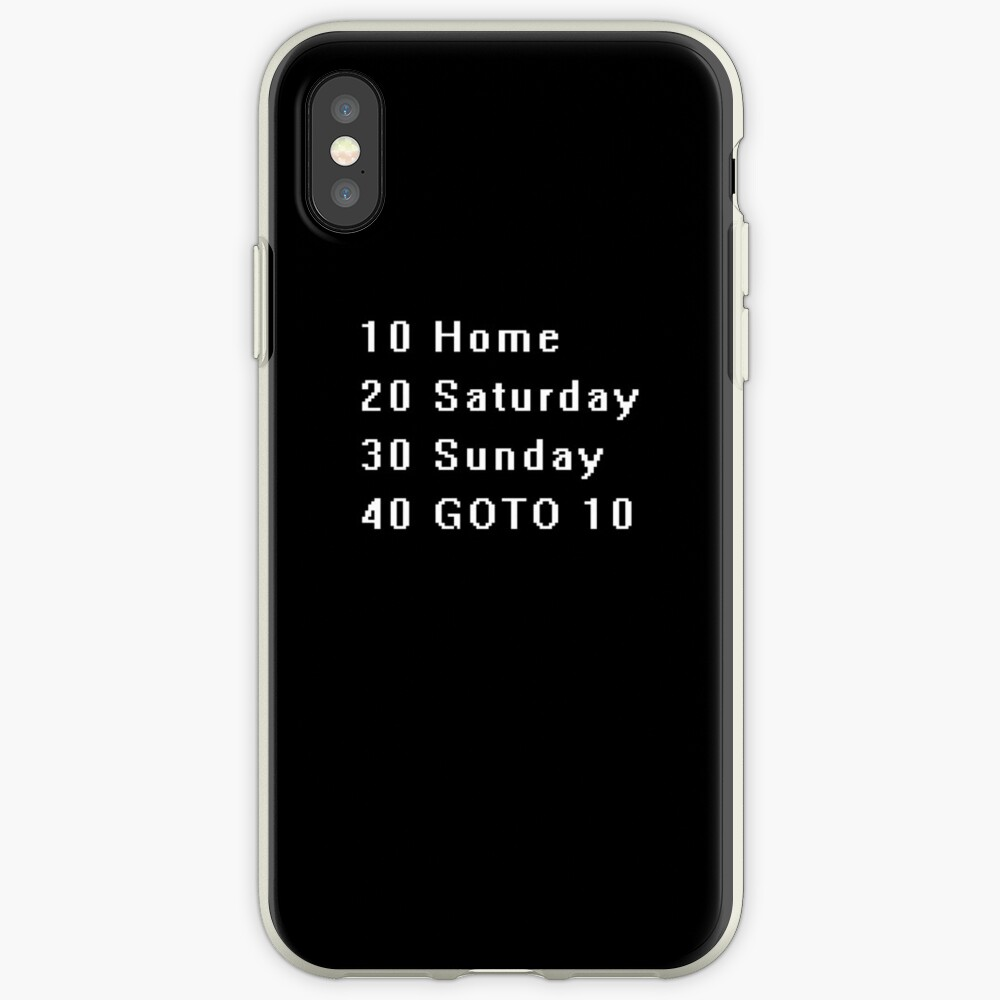Computer, Basic, Weekend, GOTO iPhone Case & Cover
