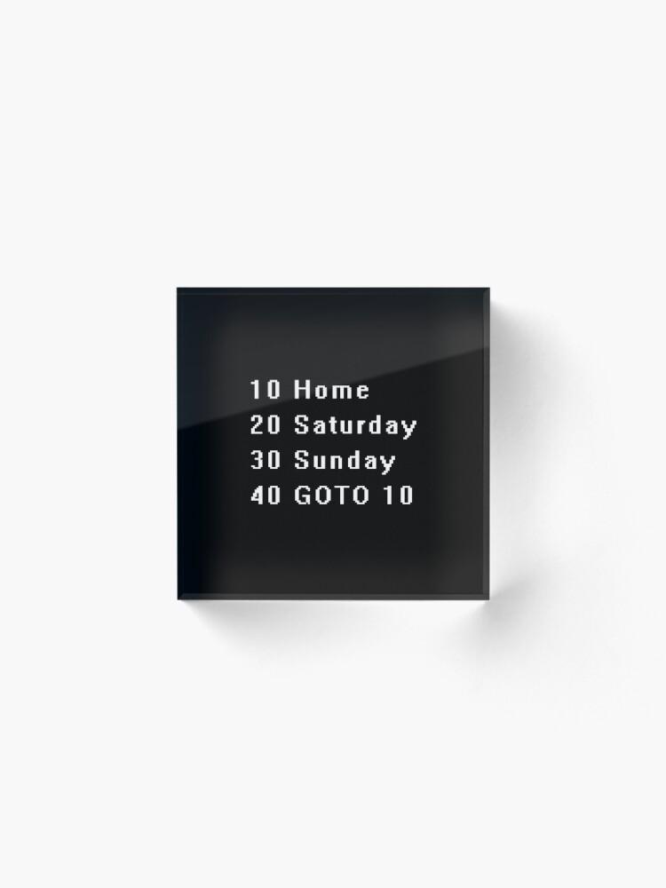 Alternate view of Computer, Basic, Weekend, GOTO Acrylic Block