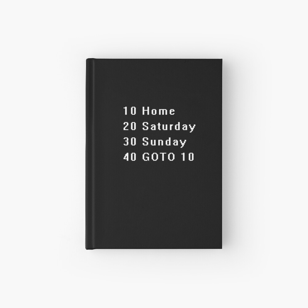 Computer, Basic, Weekend, GOTO Hardcover Journal
