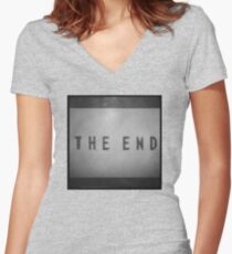 Pokemon Yellow / THE END Women's Fitted V-Neck T-Shirt