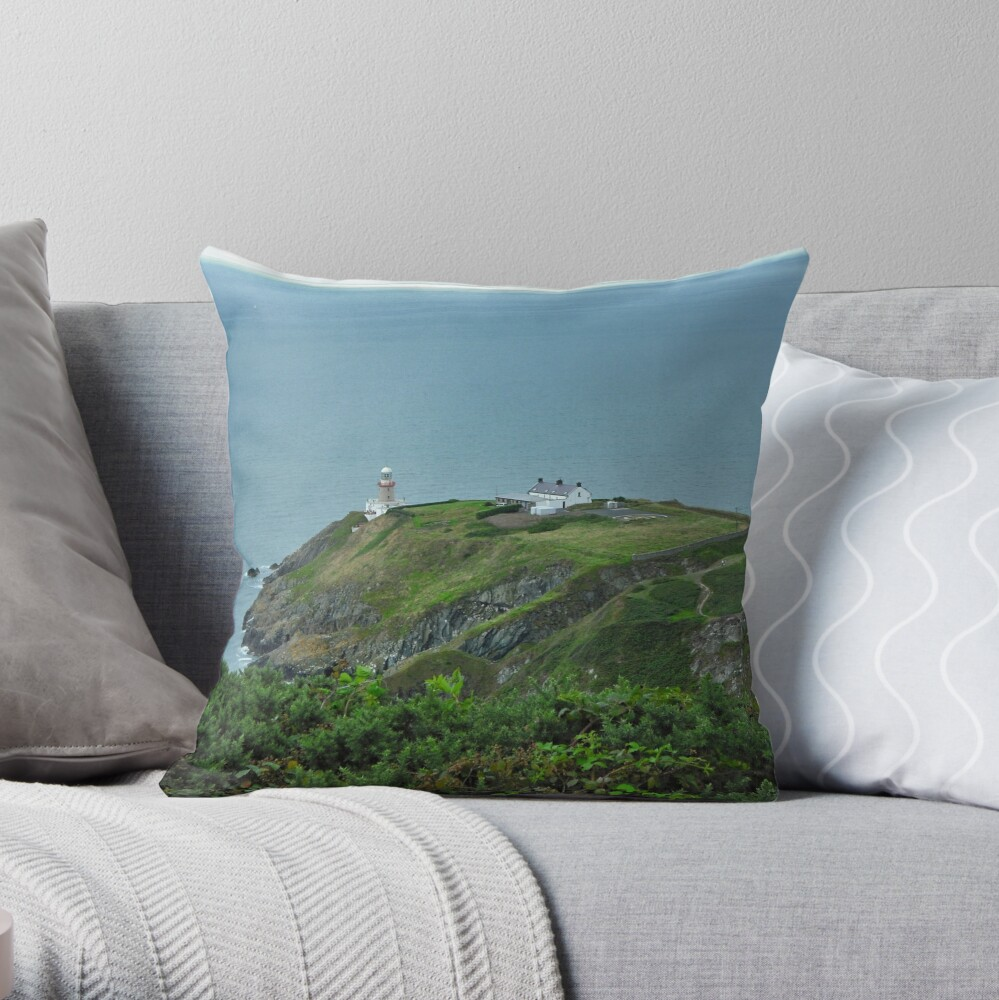 Howth Lighthouse - Ireland Throw Pillow