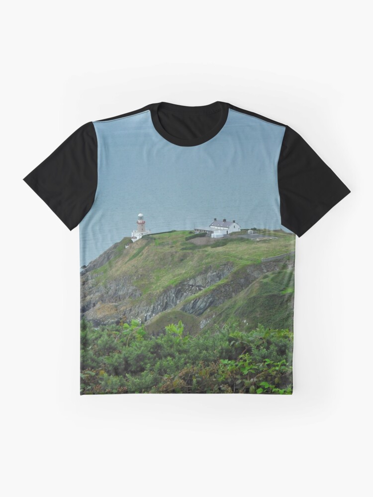 Alternate view of Howth Lighthouse - Ireland Graphic T-Shirt