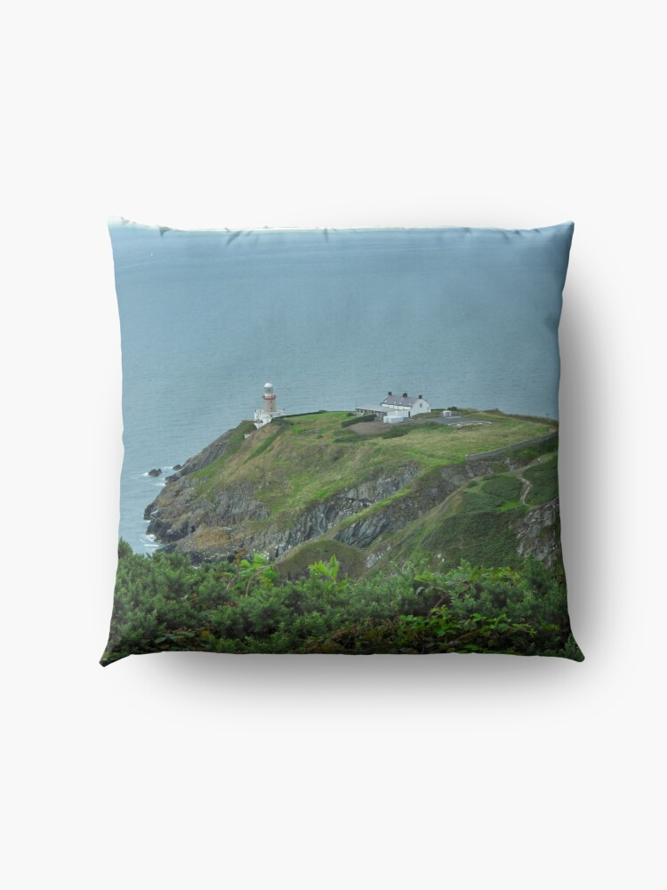 Alternate view of Howth Lighthouse - Ireland Floor Pillow