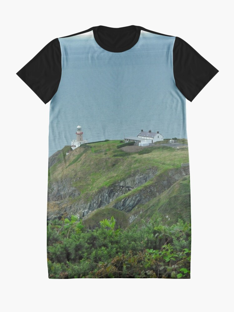 Alternate view of Howth Lighthouse - Ireland Graphic T-Shirt Dress