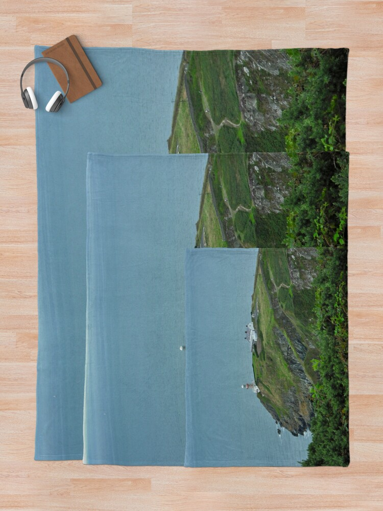 Alternate view of Howth Lighthouse - Ireland Throw Blanket