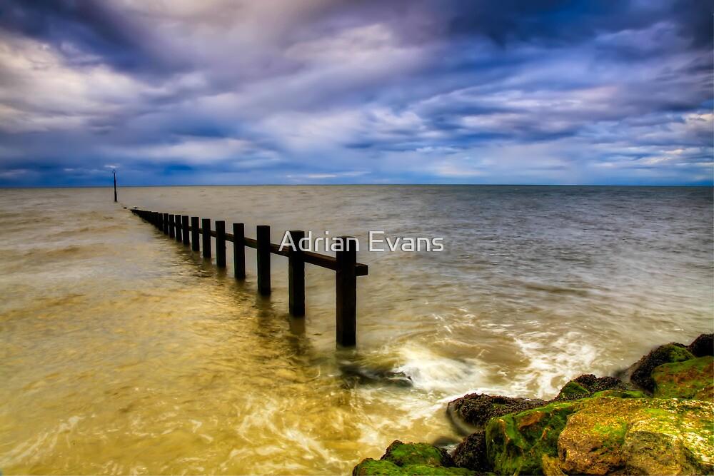 Groyne at Rhyl by Adrian Evans