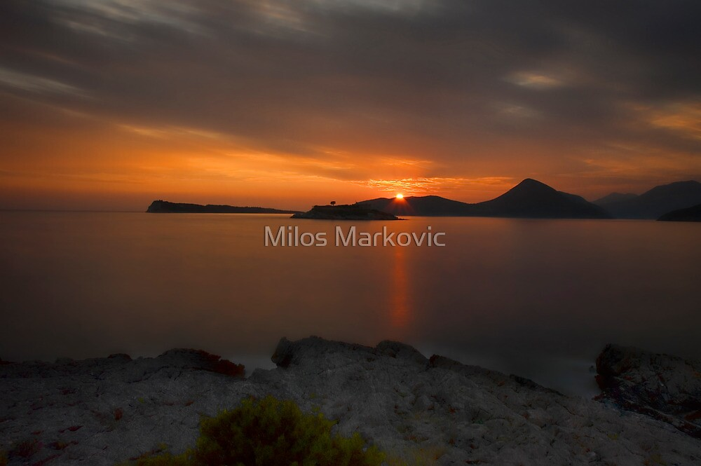 Distant Sunset by Milos Markovic