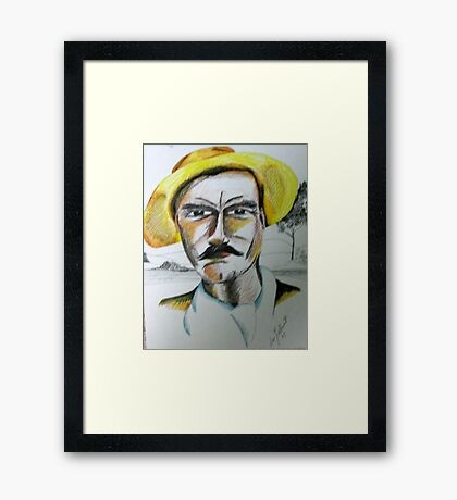 No, you can't borrow my hat.... Framed Print