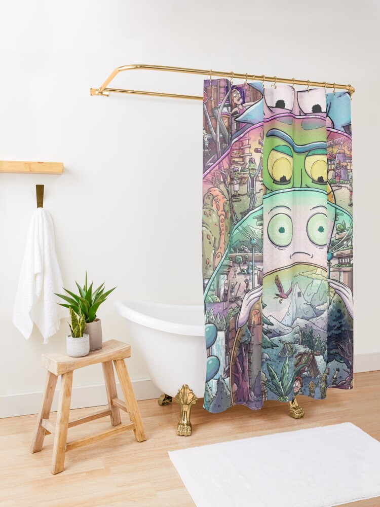 Alternate view of The Ricks Must Be Crazy Shower Curtain