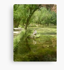 bow reflection Canvas Print