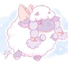 Cute Wooloo Pokemon Sheep Fanart by CJLullaby