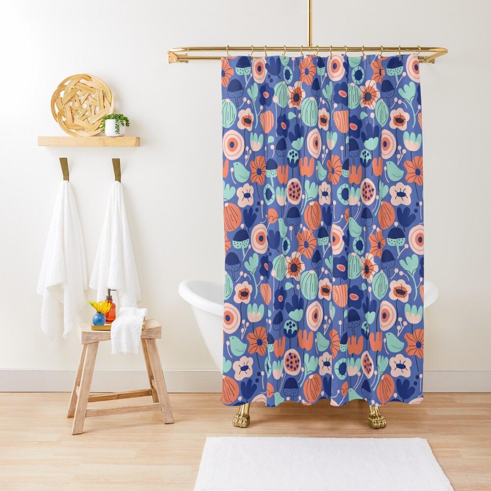 Blue Garden Shower Curtain