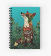 Cuaderno de espiral zorro floral