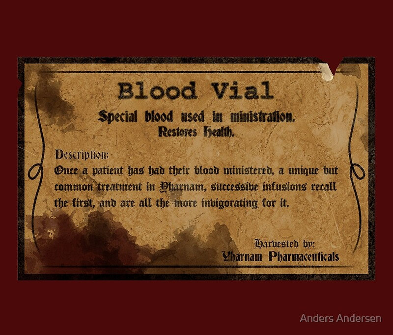 Quot Blood Vial Bloodborne Quot Travel Mugs By Anders Andersen
