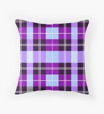 Purple Plaid Floor Pillow