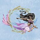 Lila schwarze Meerjungfrau von LCWaterworth