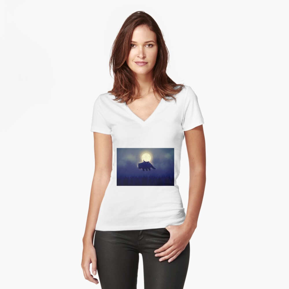 The End of All Things - Night Version Fitted V-Neck T-Shirt