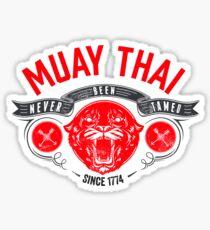 Muay Thai - Never Been Tamed Sticker