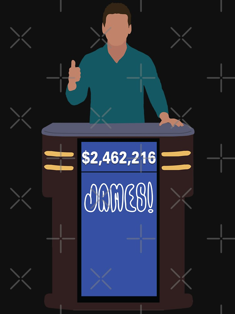 Heroes of Quiz Shows: James! Holzhauer at the Podium (new shirt) by countercolour