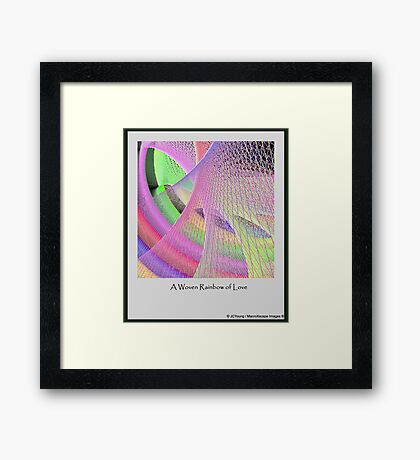 A Woven Rainbow of Love Framed Print