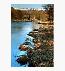 Cold Morning Beside the The River Tweed Photographic Print