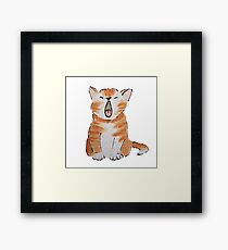 Watercolour Kitten Framed Print