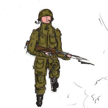 running paratrooper by Benlyksmonsters